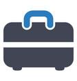 briefcase portfolio suitcase icon vector image vector image