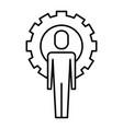 businessman work solution success gear vector image vector image