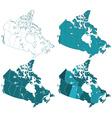 Canada maps vector image vector image