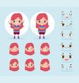 cartoon character animation little girl vector image