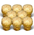 champagne cork three rows white background vector image vector image