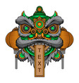 chinese traditional lion dance head vector image vector image