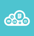 cloud computing concept flat design vector image