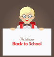 cute happy little boy in glasses vector image vector image