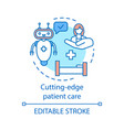 cutting edge patient care concept icon vector image vector image