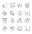 cyber security information data and network vector image vector image