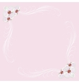 Delicate frame with orchid flowers on pink vector image vector image