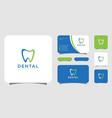 dental care logo template design vector image vector image