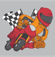 design mini motorbike racing competition vector image