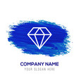 diamond icon - blue watercolor background vector image