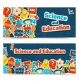 Education science banners vector image