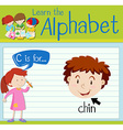 Flashcard letter C is for chin vector image vector image