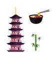 flat japanese symbols set vector image