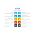 gdpr infographic 10 option templatedata e vector image vector image