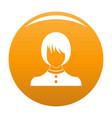 girl user icon orange vector image vector image
