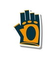 gloves gym equipment isolated icon vector image