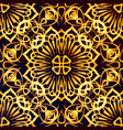 golden pattern seamless vector image
