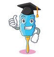 graduation feather duster character cartoon vector image vector image