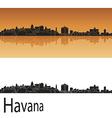 Havana skyline in orange background vector image vector image
