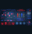 hud ui gui futuristic frames user interface vector image vector image