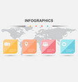 infographic design template with square elements vector image