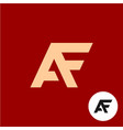 letter a and f logo af ligature symbol vector image