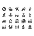 life cycle icon set vector image vector image
