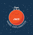 mars exploration cartoon poster vector image