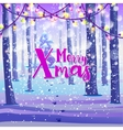 Merry Xmas on winter background vector image