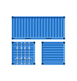 Metal cargo container vector image vector image