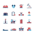 Oil gas industry modern flat design icons and vector image vector image