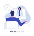 online doctor 2 vector image vector image