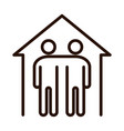 people inside home protection community vector image vector image