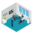 Personnel Training Isometric Concept vector image vector image