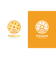 pizza and wifi logo combination food and vector image vector image
