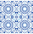 portuguese or spanish tile azulejos pattern vector image vector image