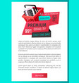 premium quality only day offer isolated banner vector image vector image