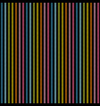 rainbow lines on black background seamless texture vector image vector image