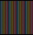 rainbow lines on black background seamless texture vector image
