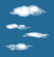 realistic transparent clouds set high detailed vector image vector image