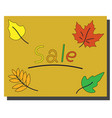 sale banner with bright autumn leaves vector image vector image
