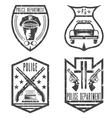 set of grunge vintage police law enforcement vector image vector image