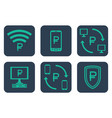 set of icons about online payments with rouble vector image vector image