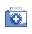 silhouette briefcase and first aid kit urgency vector image vector image