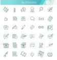 simple set copywriting related line vector image vector image