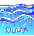 summer at seaside stylized of waves vector image vector image