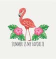 summer is my favorite vector image vector image