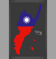taidong taiwan map with taiwanese national flag vector image vector image