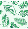 tropical palm leaves pattern - seamless modern vector image vector image