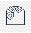 uniform concept linear icon isolated on vector image